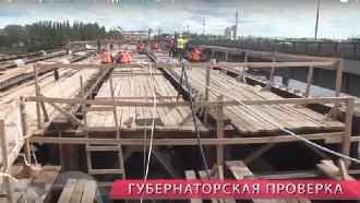 Проверка темпов реконструкции Петровского моста